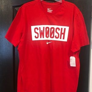 NWT Men's Nike Swoosh tee in red, XL